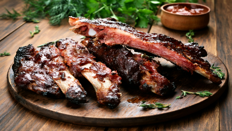 Thursday Dinner Special:  BBQ Chicken and Ribs